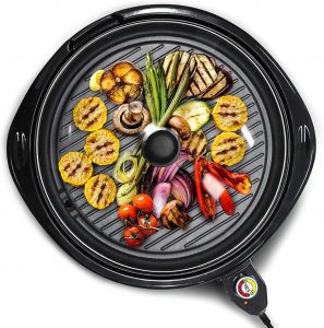 Elite Gourmet EMG-980B Large Indoor Electric Korean BBQ Grill