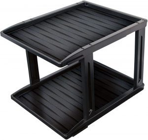 2-tier Family Home Products Heavy Duty Weatherproof Shoe Tray black plastic