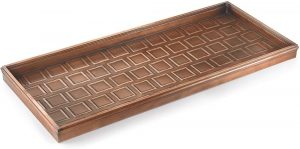 Good Directions Squares shoe tray with copper finish