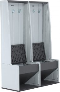 Lifetime 60226 Home & Garage Storage Locker pair, made of white and gray plastic