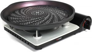 TeChef Korean BBQ Grill Pan With Portable Stove Burner