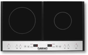 Cuisinart ICT-60 Double Induction Cooktop black and stainless steel