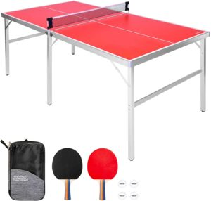 GoSports medium-sized table tennis game set with a folding table