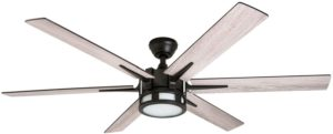 Honeywell Kaliza Modern Ceiling Fan with Remote Control, 56 inches, espresso finish