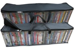 Evelots DVD or Blu-ray storage bag for under the bed