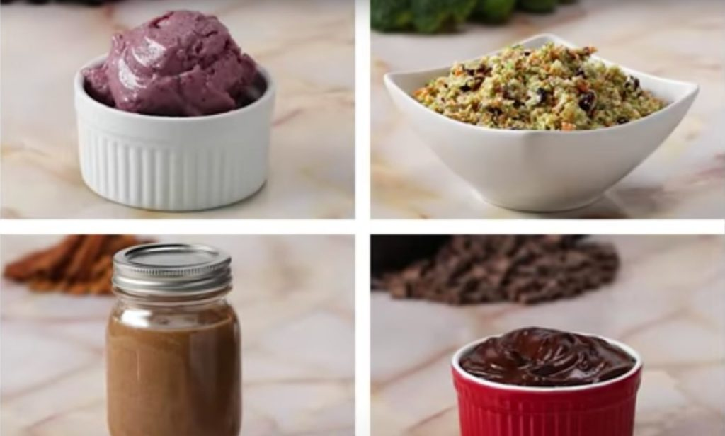 Purees, ice cream and nut spreads, all made with a food processor and ready to serve