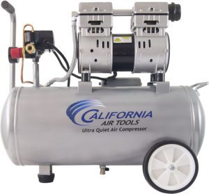 Large, gray air compressor