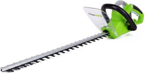 Greenworks 2200102 green corded hedge trimmer