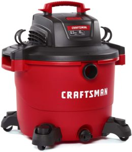 Powerful red shop vacuum from Craftsman