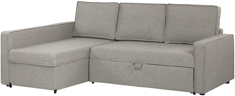 Gray sleeper sofa with a chaiselong
